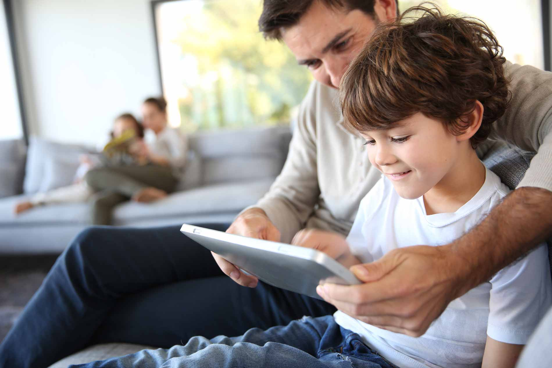 Father-and-son-with-tablet